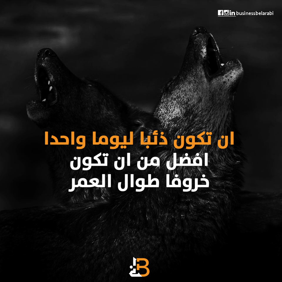 اقتباس ان تكون ذئبا ليوما واحدا افضل من ان تكون خروفا طوال العمر